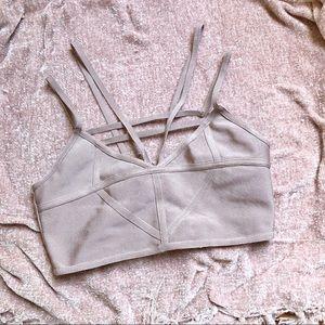 Bralette with zipper